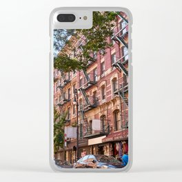 Lower eastside new york Clear iPhone Case