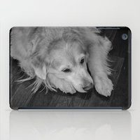 golden retriever iPad Cases featuring Golden retriever by Mauricio Togawa