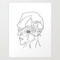 human Art Prints featuring Human. by sonigque