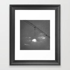 Crane & clouds Framed Art Print