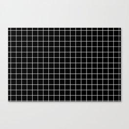 Windowpane Black Canvas Print