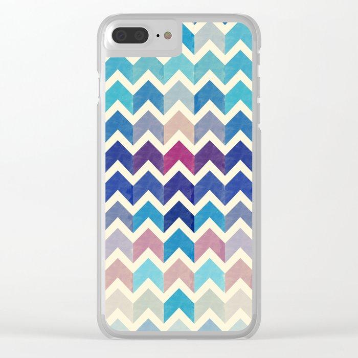 Chevron Pattern VIII Clear iPhone Case