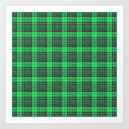Lunchbox Green Plaid Art Print