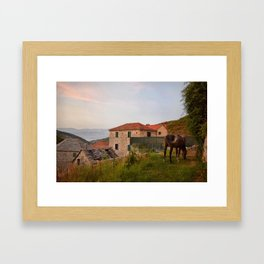 Serene Night in Croatia Framed Art Print