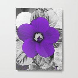 Electric Violet Flower. Metal Print