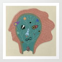 Art Print featuring Inner sFace by ART Collective