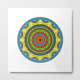 Colorful mandala ornamentation design Metal Print