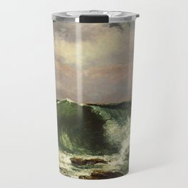 Waves by Gustave Courbet Travel Mug