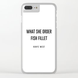 Fish fillet Clear iPhone Case
