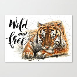 Tiger Wild and Free Canvas Print