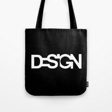 The black design Tote Bag