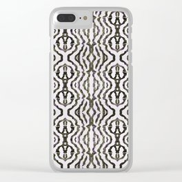 Black Coral Clear iPhone Case