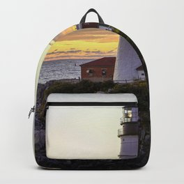Portland Head Light Sunrise Backpack