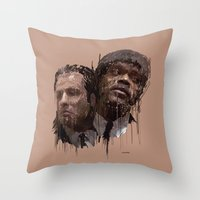pulp Throw Pillows featuring Pulp! by Marcello Castellani
