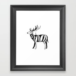 Lost in Its Own Existence (Deer) Framed Art Print