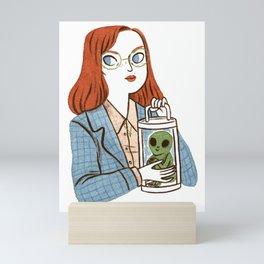 Dana Scully, Patron Saint of Nerds Mini Art Print