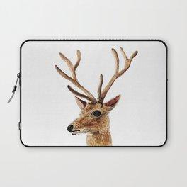 deer watercolor painting Laptop Sleeve