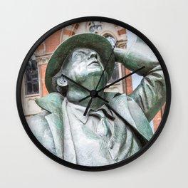 Statue Man Station Wall Clock