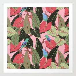 Sunny Hawaii Tropical Exotic Birds of Paradise Art Print