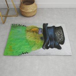 Parakeet Hat Parade #2 Roz Rug