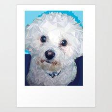 Roscoe Dog Art Print