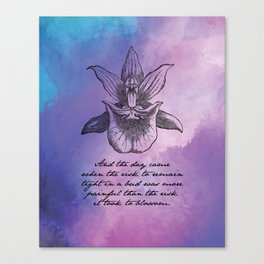Anais Nin - Tight Blossom Canvas Print