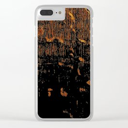 Golden Embers Clear iPhone Case