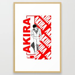 Kaneda Red Framed Art Print