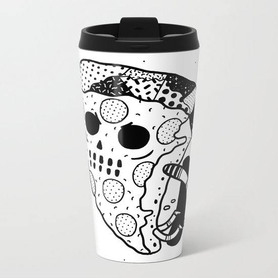 Pepperoni grab Metal Travel Mug