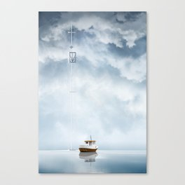 Waiting for transit - Sailing seven seas Canvas Print