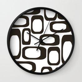 Mid Century Modern Shapes Black And White #society6 #buyart Wall Clock