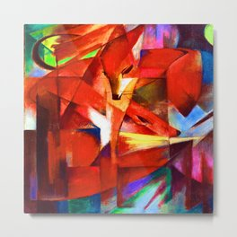 Franz Marc The Foxes Metal Print