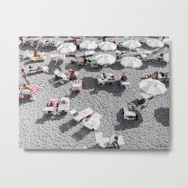 Grey Beach Metal Print