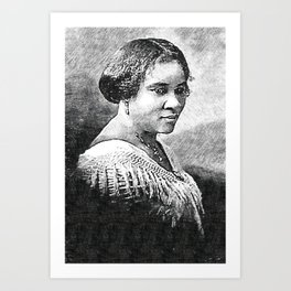 Black Wealth - Madam C.J. Walker Black History Month Art Sarah Breedlove 009 Art Print