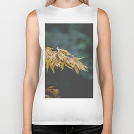Faded Yellow Acer Leaves Biker Tank