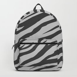 Soft Gray Wildlife Tiger Pattern Backpack