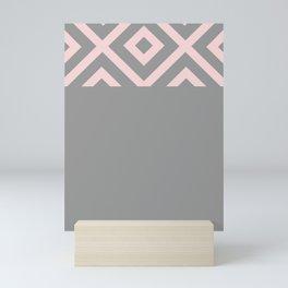 African Details - Grey Pink Mini Art Print