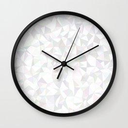 White triangle mosaic Wall Clock