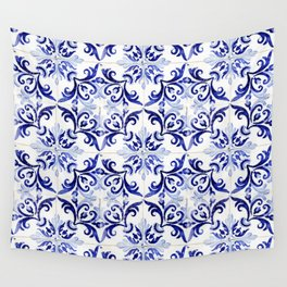 Azulejo V - Portuguese hand painted tiles Wall Tapestry