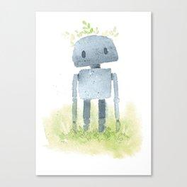 Little robot Canvas Print