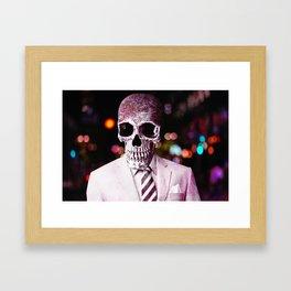 Skull On The Town Framed Art Print