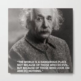 """Albert Einstein Famous Inspirational """"Take Action"""" Quote photography / photographs Metal Print"""