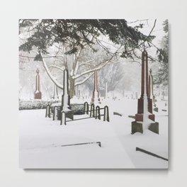 Cemetery Snowdrifts Metal Print