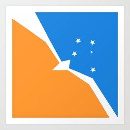 Flag of Tierra del Fuego Art Print