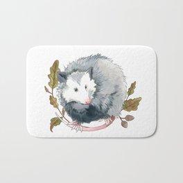 Possum and Oak Leaves Bath Mat