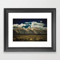 Mountains and Forest - The Grand Tetons National Park Jackson Hole Wyoming Framed Art Print