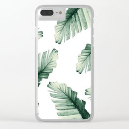 Tropical Banana Leaves Dream #8 #foliage #decor #art #society6 Clear iPhone Case