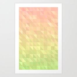 Pink and Green - Flipped Art Print