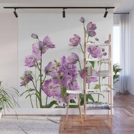 Purple delphinium flowers Wall Mural