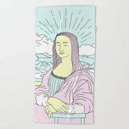 Mona Lisa Pop Beach Towel